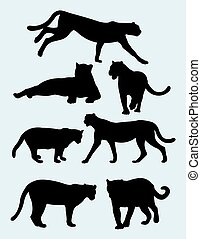 Panther silhouettes 01.