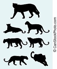 Panther silhouettes 02.