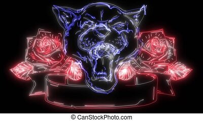 Panther snake roses digital graphic video - Panther snake ...