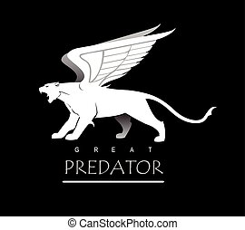 panther. Tiger. winged panther. winged tiger