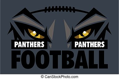 panthers football team design with mascot eye black for...
