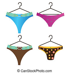 panties - four different panties with some textures and...
