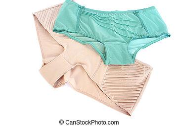 Panties - Stylish panties isolated on white background.