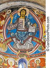 Pantocrator of Sant Climent de Taull, Catalonia, Spain