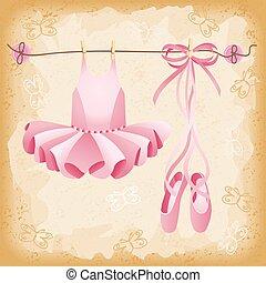pantofelki, balet, różowy