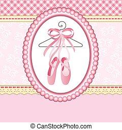 pantofelki, tło, balet