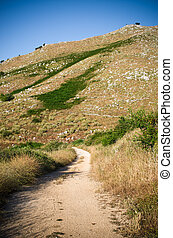 Pantokrator mountain on Corfu island, Greece
