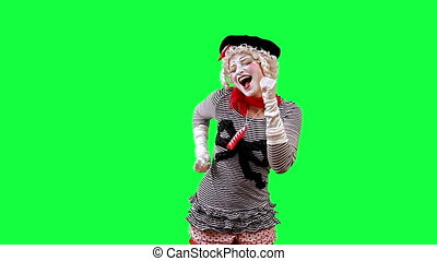 Pantomime Dances - Girl mime dancing funny dance. This clip...