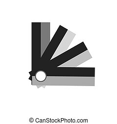 Panton black flat vector icon