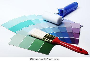 Pantone color palette - Close up of pantone color palette...