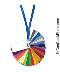 Pantone color palette guide. illustration design