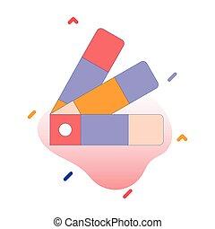 Pantone, colors, palette, catalog fully editable vector icon
