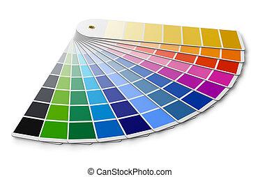 pantone, färben palette, führer