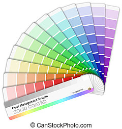 pantone, färben palette