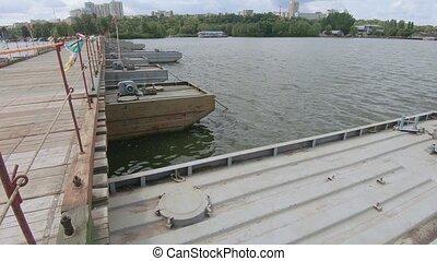 pantone, pont, rivière, sur