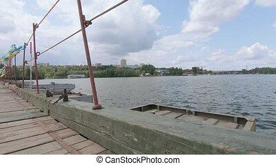 pantone, rivière, pont, sur