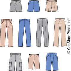 Pants - Vector illustration. Set of pants