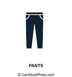 Pants icon. Flat style icon design. UI. Illustration of pants icon. Pictogram isolated on white. Ready to use in web design, apps, software, print.