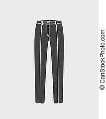 Pants icon - Vector illustration of women's business pants...