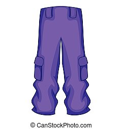 Pants snowboard clothes icon, cartoon style - Pants...