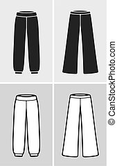 Pants - Vector illustration of pants, clothes icon