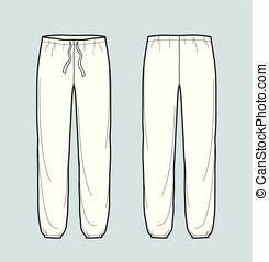 Pants - Vector illustration of pants. Front and back