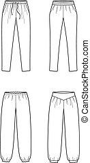 Pants - Vector illustration of women's summer pants