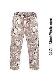 Pants with floral print