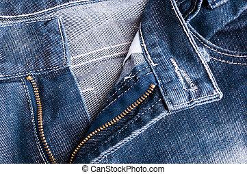 Pants with zipper open