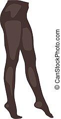 panty, manguera, realista, ilustración, marrón, vector, aislado