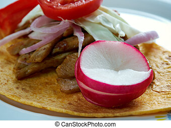 Panucho - Mexican food specialty from the Yucatan made with...