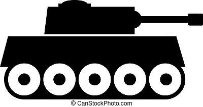Panzer icon on white background. Vector illustration.