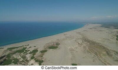 Paoay Sand Dunes, Ilocos Norte, Philippines. - Aerial view...