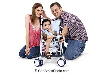 papá, familia , mamá, niño