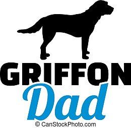 papá, griffon, silueta