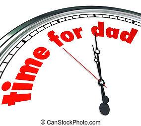 papá, reloj, padre, aprecio, paternidad, tiempo, día