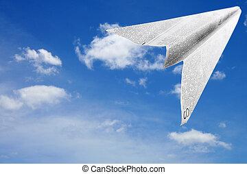papír repülőgép