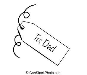papa, étiquette