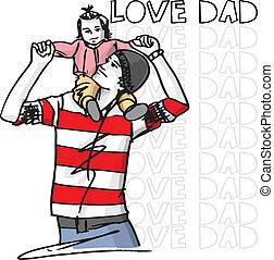 papa, amour