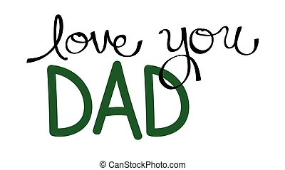 papa, amour, vous, vert