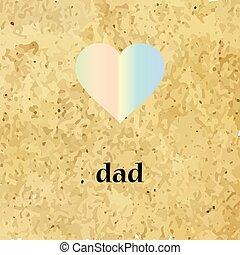 papa, coeur, icône