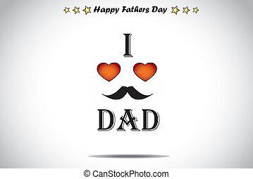 papa, coeur, résumé, amour, rouges