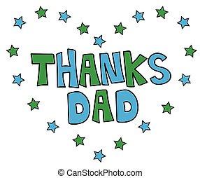 papa, coeur, remerciement