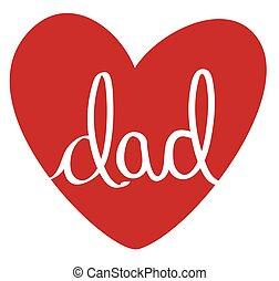 papa, coeur, rouges