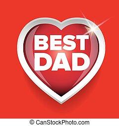 papa, coeur, vecteur, mieux