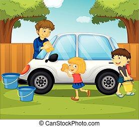 Gosses parc haut spontan it nettoyage gosses vecteur eps rechercher des clip art - Coloriage car wash ...