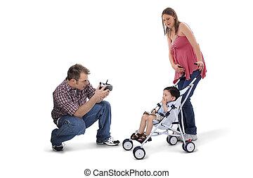 papa, famille, maman, enfant