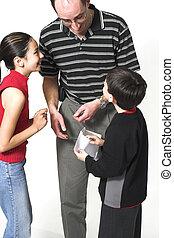 papa, father\\\'s, jour, enfants