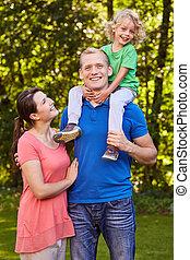 papa, ferroutage, fils portant