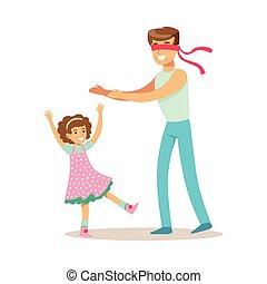 papa, fille, bon, peau, heureux, chercher, père, apprécier, temps, aimer, papa, qualité, jouer, gosse
